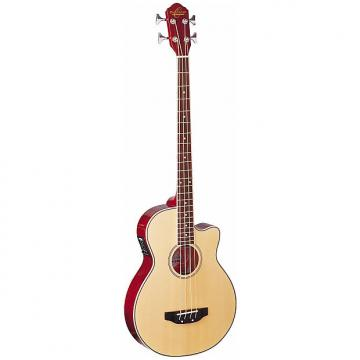 Custom Oscar Schmidt OB100N 4-String Acoustic Electric Bass, with Gig Bag