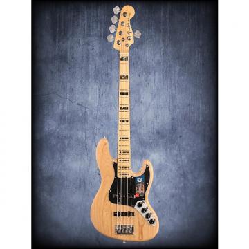 Custom Fender Amer Elite Jazz Bass V Ash MN Natural W/C