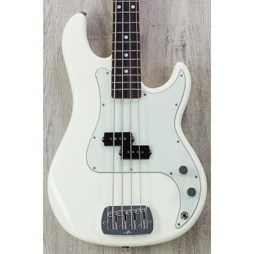 Custom G&L USA LB-100 Electric Bass, Vintage White, Rosewood, Quartersawn Gloss Tinted Neck