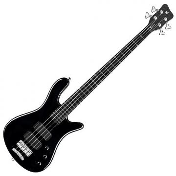 Custom Warwick RockBass Streamer Standard 4-String Electric Bass Guitar Fretted Black