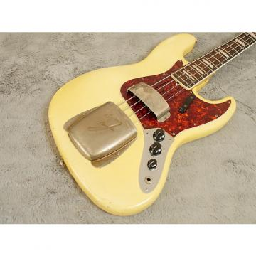 Custom SUPERB Fender Jazz Bass 1969 Olympic White with Matching Headstock + OHSC