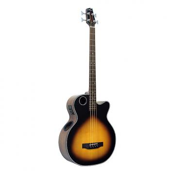 Custom Boulder Creek EBR1-TB4 Tobacco Sunburst 4-String Acoustic Electric Bass