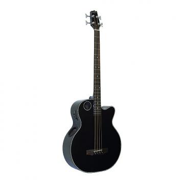 Custom Boulder Creek EBR1-B4 Black 4-String Acoustic Electric Bass