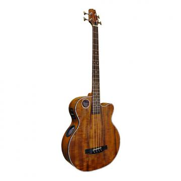Custom Boulder Creek EBR6-N4 Natural Koa 4-String Bass