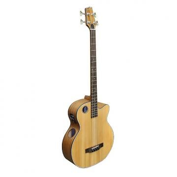 Custom Boulder Creek EBR3-N4 Natural 4-String Acoustic Electric Bass