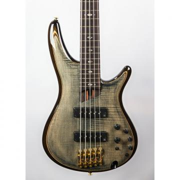Custom Ibanez SR1405E Premium Bass Guitar Transparent Gray Black