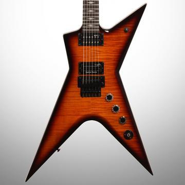 Custom Dean Stealth Floyd FM Electric Guitar (with Case), Transparent Brazilia
