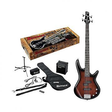 Custom Ibanez IJXB150B Jumpstart Bass Package Walnut Sunburst