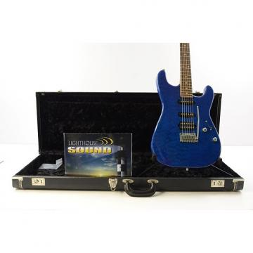 Custom Suhr Custom Classic Chambered Electric Guitar - Trans Blue w/Case - J.S. Signed