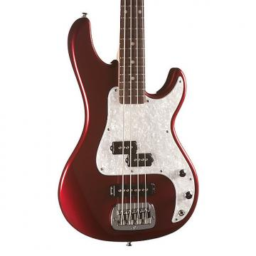 Custom G&L Tribute SB-2 Bass, Bordeaux Red Metallic, Rosewood