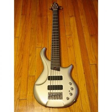 Custom Warrior Signature 5 String Bass Silver w/ Warrior soft case, strap