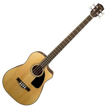 Custom Fender CB-100CE Electro Acoustic Bass, Natural