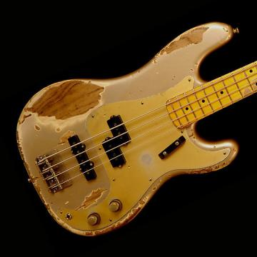 Custom Nash PB-57/PJ Bass Guitar - Shoreline Gold - Nashguitars pb-57/pj shoreline gold