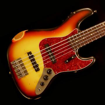 Custom Nash JB-5 String Bass Guitar- 3 Tone Sunburst - Nash JB-5 String Bass Guitar- 3 Tone Sunburst
