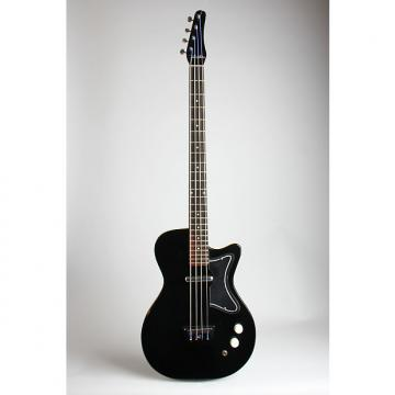 Custom Silvertone Model 1444 Electric Bass Guitar, made by Danelectro (1964), ser. #3084, original black hard shell case.