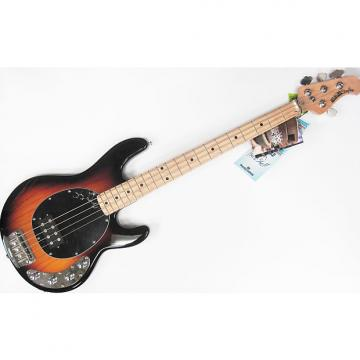Custom Music Man Ernie Ball StingRay Vintage Sunburst Electric Bass with Hard Case & Cube-01 Amp