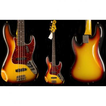 Custom Nash JB-63 3 Tone Sunburst Jazz Bass Guitar - Medium Aging