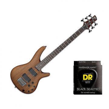 "Custom Ibanez SRC6 30"""" Scale, 6-String - Walnut Flat w/2 Sets DR Strings BKB630"