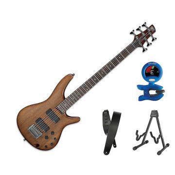 "Custom Ibanez SRC6 30"" Scale, 6-String - Walnut Flat Bonus Kit"