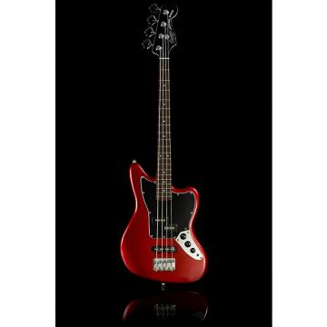 Custom Squier Vintage Modified Jaguar Bass Special Short Scale Candy Apple Red