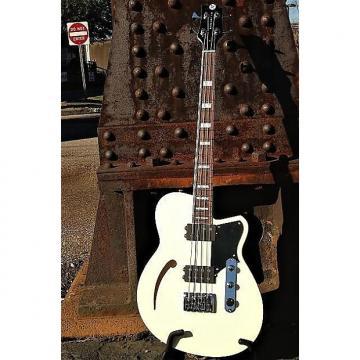 Custom Reverend Guitars Dub King 4 Sting Semi Hollow Bass Guitar Cream