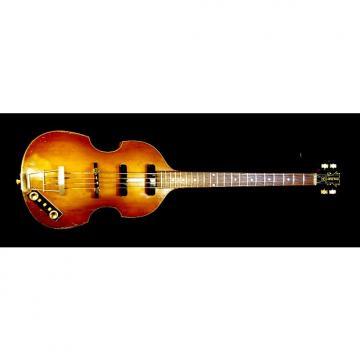 "Custom Hofner 500/1 1958 Sunburst ""Violin"" Bass Guitar aka ""Beatles Bass"" Extremely Rare & Collectible"
