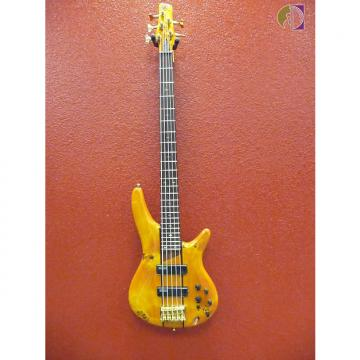 Custom Ibanez SR805, 5 String Bass, Amber Finish, Active Electronics