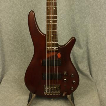 Custom Ibanez SR505 BM 5-String Electric Bass in Brown Mahogany