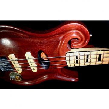 Custom WAVECREST California Custom 2005 Natural Handmade Bass Guitar. RARE. Like Alembic. Only one.