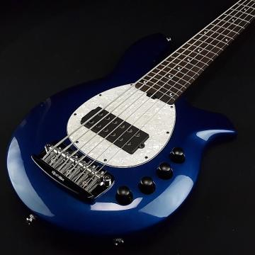 Custom Music Man Bongo 6 String Electric Bass H Blue Pearl with Case