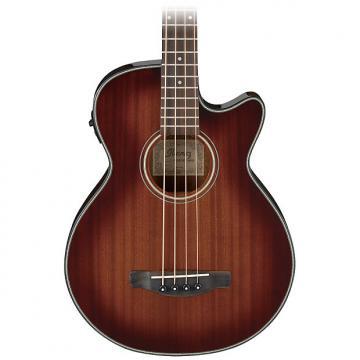 Custom Ibanez AEGB14E Acoustic Electric Bass - Mahogany Sunburst