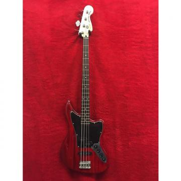 Custom Squier Vintage Modified Jaguar Bass Crimson Red