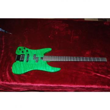 Custom Green Flamed Left Handed Bass Guitar