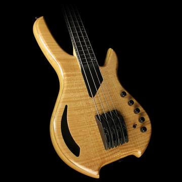 Custom Willcox Saber VL 4-String Fretless Electric Bass Trans Natural