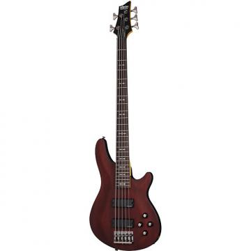 Custom Schecter Omen-5 Walnut Satin WSN *B-Stock* Electric 5-String Bass Omen 5 Omen5