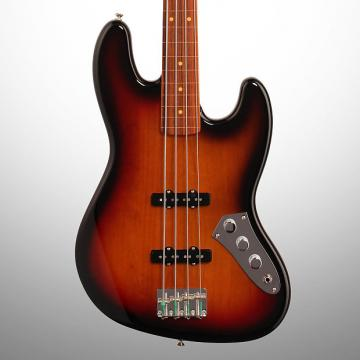 Custom Fender Jaco Pastorius Fretless Jazz Electric Bass with Case, 3-Color Sunburst