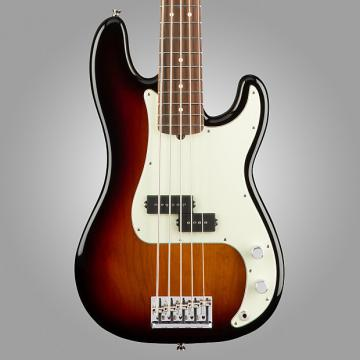Custom Fender American Pro Precision V Electric Bass, 5-String, Rosewood, (with Case), 3-Color Sunburst