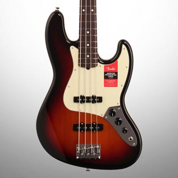 Custom Fender American Pro Jazz Electric Bass, Rosewood Fingerboard (with Case), 3-Color Sunburst