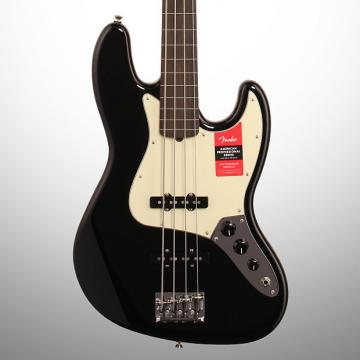 Custom Fender American Pro Jazz Electric Bass, Fretless, Black (with Case)