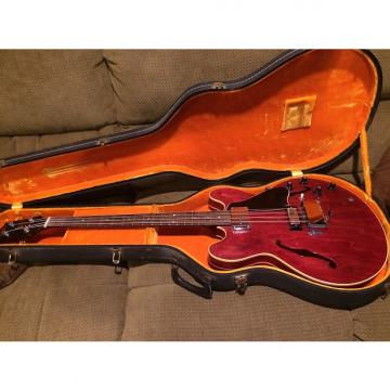 Custom Gibson EB 2 D 1969 Cherry Vintage Semi Hollow Body Bass