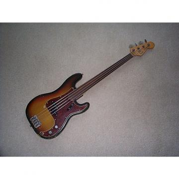 Custom Fender Precision 1973 Sunburst fretless