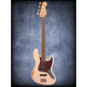 Custom Fender Flea Jazz Bass Roadworn Shell Pink W/B