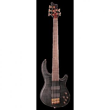 Custom Dean EP5 TBK Edge Pro 5 Bass Guitar, Trans Black