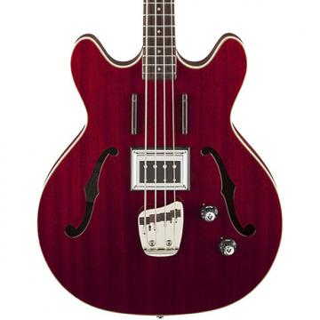 Custom Guild Starfire Bass CHR Semi-Hollow Electric Bass Guitar, Cherry Red, with TKL Hard Case