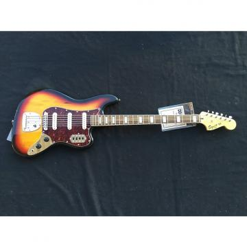 Custom Squier Vintage Modified Bass VI 3-Tone Sunburst with Free Shipping