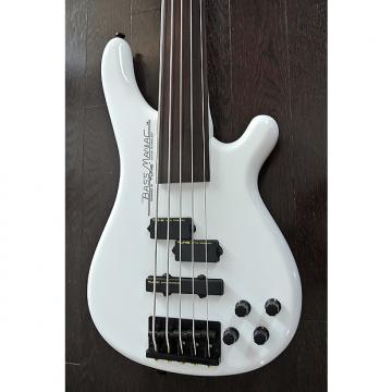 Custom TUNE Bass Maniac TBJ51 NF - Fretless 5 String Bass - Snow White - NEW - Authorized Dealer