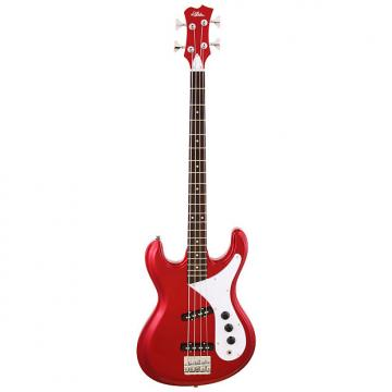 Custom Aria Diamond 4-string Electric Bass in Candy Apple Red/Black/Pearl White