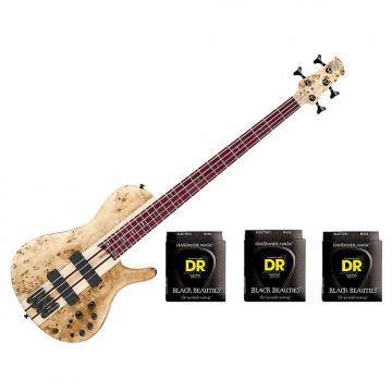 Custom Ibanez SRSC800 Deep Natural Flat Bass Workshop w/3 Sets DR Strings BKB45