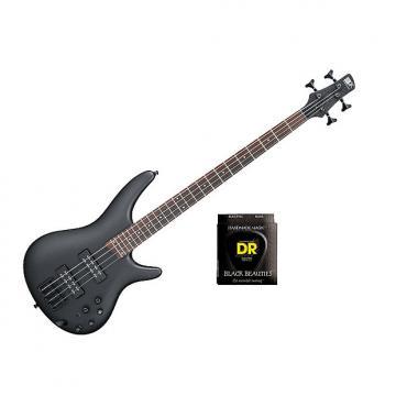 Custom Ibanez SR300E Weathered Black w/Set DR Strings BKB45