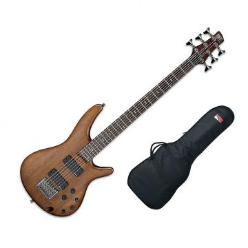 "Custom Ibanez SRC6 30"""" Scale, 6-String - Walnut Flat w/Gig Bag"
